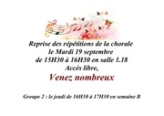 reprise repetition chorale 20172018