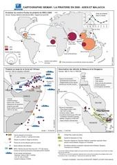 une carte sur la piraterie dans le monde