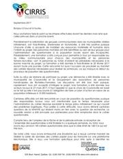 Fichier PDF niveau d avancement du projet sur les plans d action