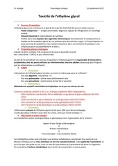 toxicite ethylene glycol