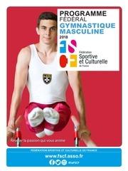 fscf gymnastique masculine programme federal 2017 2018