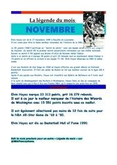 legende du mois 1 novembre 1