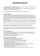 reglement azimutrip 1
