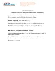 horaire autobus 26 27 septembre ass generale cat3