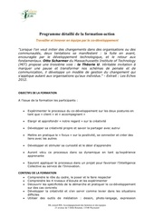 programme formation co developpement