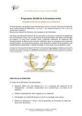 programme formation theorie u