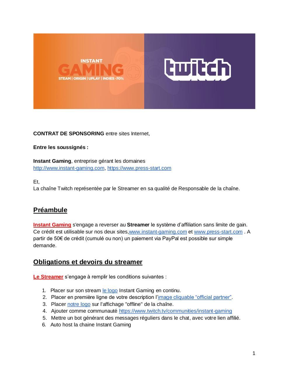 FR LIVE affiliationTwitch par Michael duchatelet - Fichier PDF