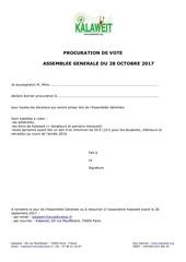 procuration de vote ag 2017