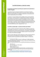 resume rapport greenpeace forets boreales 26 09 2017