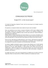 cp fnsea budget 2018