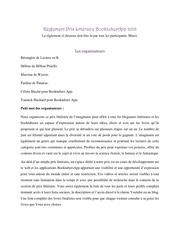 reglements prix litteraire booktubesapp 2018