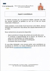 sivos appel a candidature