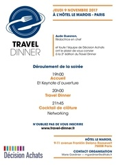 travel diner invitation web