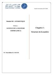 chapitre 1 ne structure de l atome