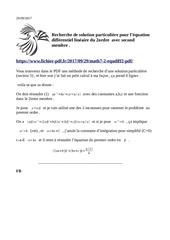 equation differentiel 2ieme ordre
