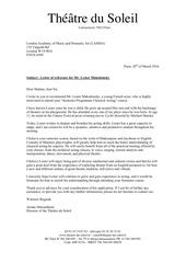 lester lettre ariane mnouchkine lamda