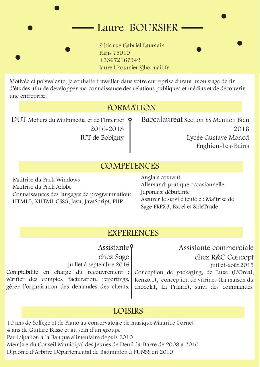 cv benoit chanal - page 1  2