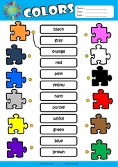 Fichier PDF colors matching exercise worksheet