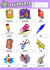 Fichier PDF in my schoolbag esl picture dictionary for kids