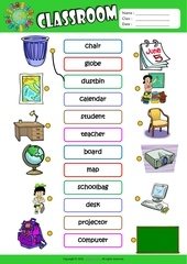 Fichier PDF in the classroom matching exercise worksheet