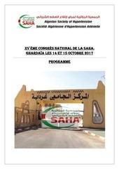 programme definitif saha 2017