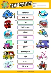 transportation matching exercise worksheet