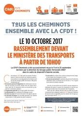appel mobilisation cfdt pour le 10 octobre 2017