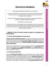 charte de la refondation ffe ps