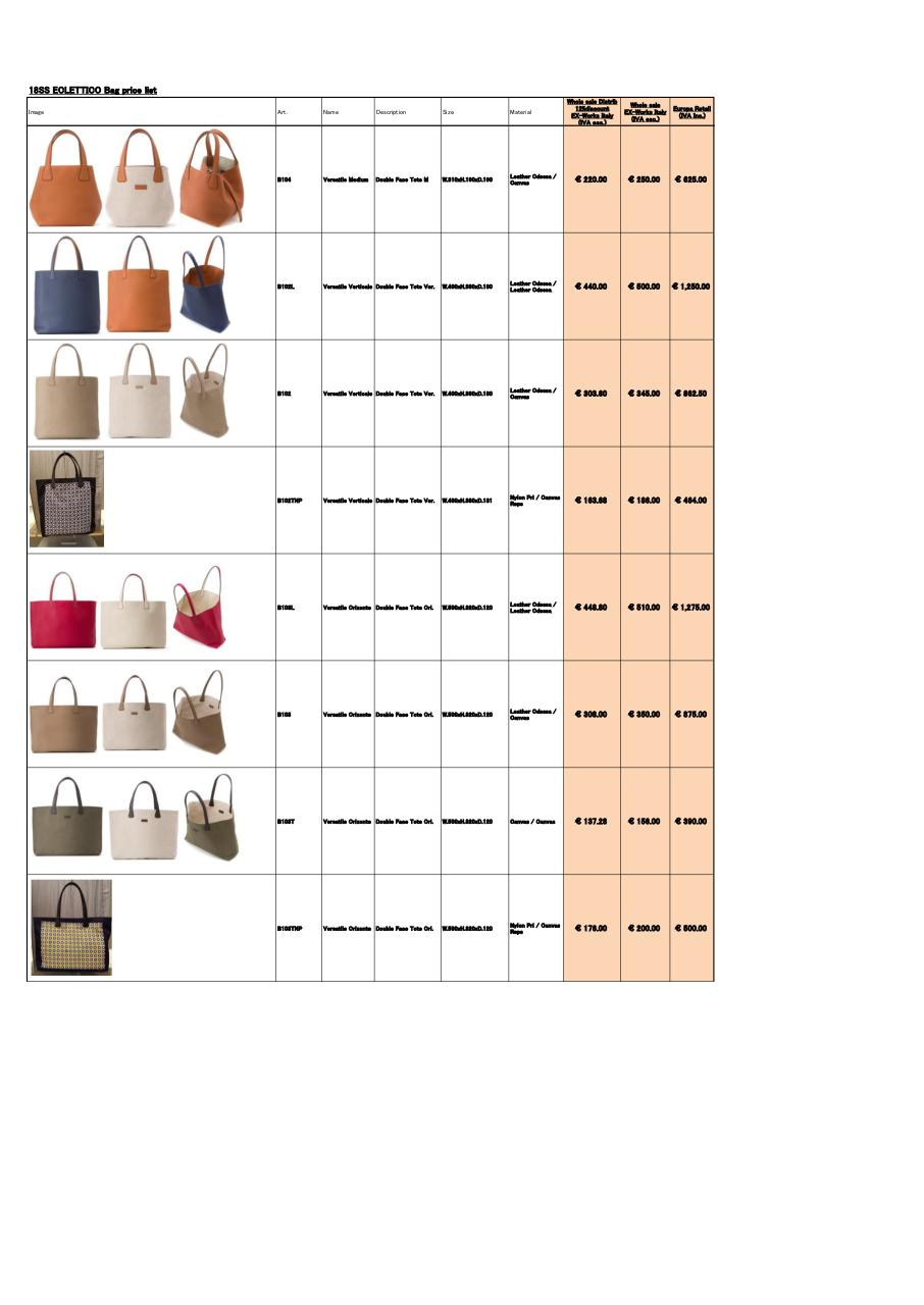 SS18newEclettico_BagPriceList_Would_Eur (1).pdf - page 2/4