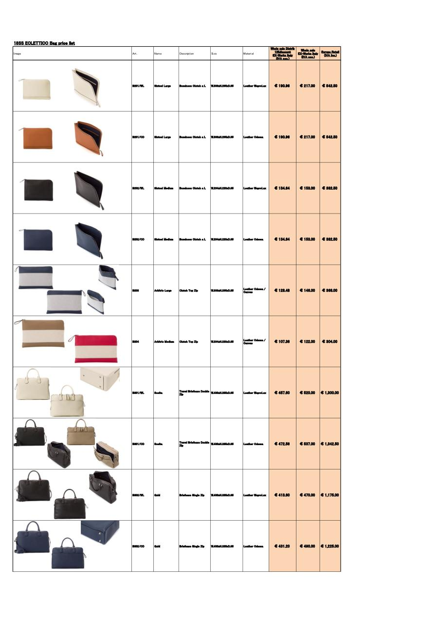 SS18newEclettico_BagPriceList_Would_Eur (1).pdf - page 3/4
