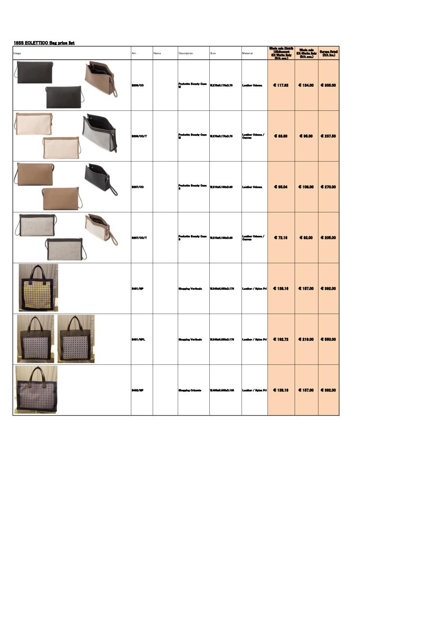 SS18newEclettico_BagPriceList_Would_Eur (1).pdf - page 4/4