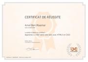 certificat amel ben maamar html5 et css3