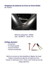 Fichier PDF changement plaquettes brembo