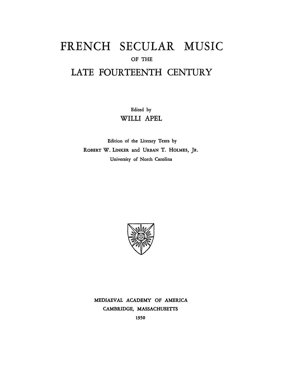 Willi Apel - French secular music of the late 14th century.pdf - page 1/172