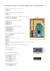 code du suiveur avec pro mini avec l293d