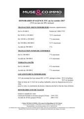 grille tarifaire octobre 2017 1