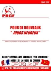 programme prcf