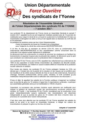 resolution ag ud fo 89 7octobre 2017