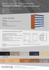 compact acier bois