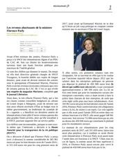 Fichier PDF les revenus ahurissants de la ministre florence parly