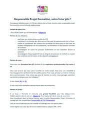 offre cdi responsable projet formation formaposte