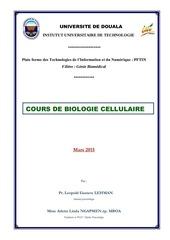 biologie cellulaire 1