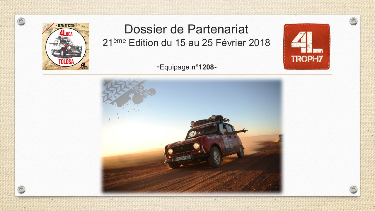 Dossier Sponsor 4L Trophy - Equipage 1208 4Loca Tolosa.pdf - page 1/17