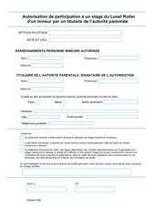 Fichier PDF autorisation stage