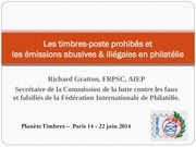 les timbres poste prohibes paris 2014 5