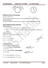 resume de cours angles orientes 3eme maths et sc exp