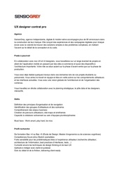 ux designer contrat pro sg