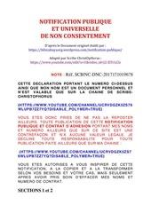 declaration publique et universelle de non consentement