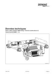 donnees technique chariot birail ez dmr 5 10 16