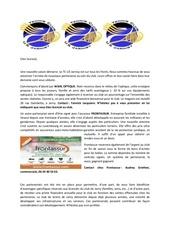 lettre sponsors